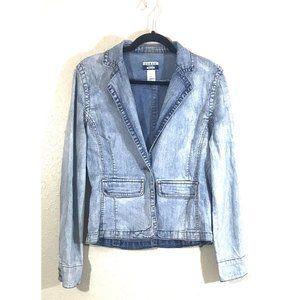 Guess Stone Washed Denim Jacket Size M